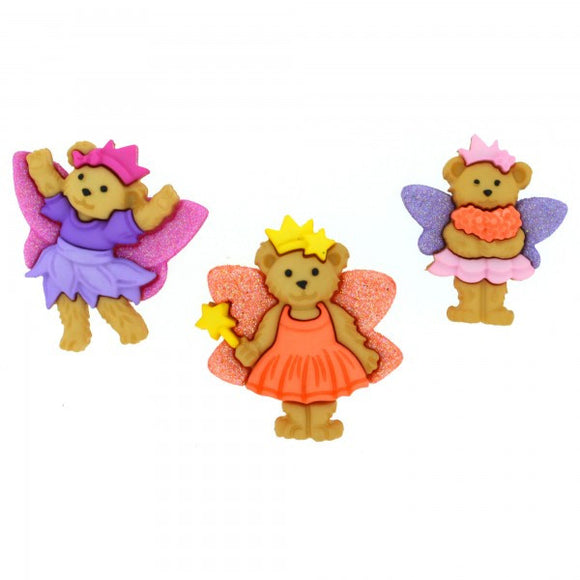 Fairy Bears - Dress It Up Buttons by Jesse James
