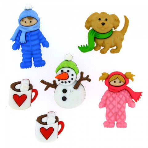 Fun in The Snow - Dress It Up Buttons by Jesse James