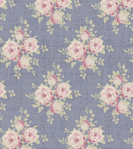 Fat Quarter - Summer Fair by Tilda - Ella Slate Blue