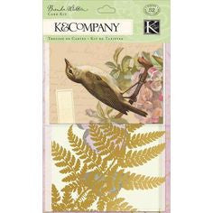 K & Company Flora & Fauna Glassine & Kraft - 8 large papers & envelopes