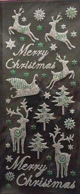Glitterations Christmas Peel Off Stickers - Reindeer