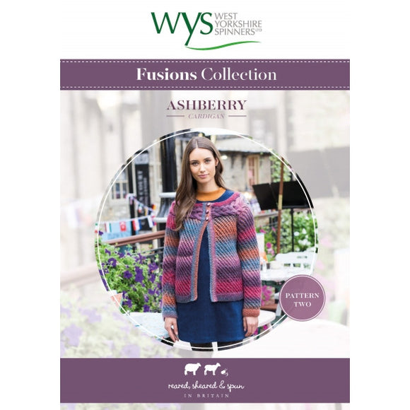 Ladies Ashberry Cardigan Pattern - West Yorkshire Spinners Fusions Collection