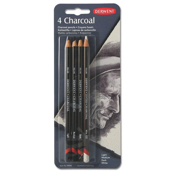 Derwent Charcoal Pencils - Pack of 4