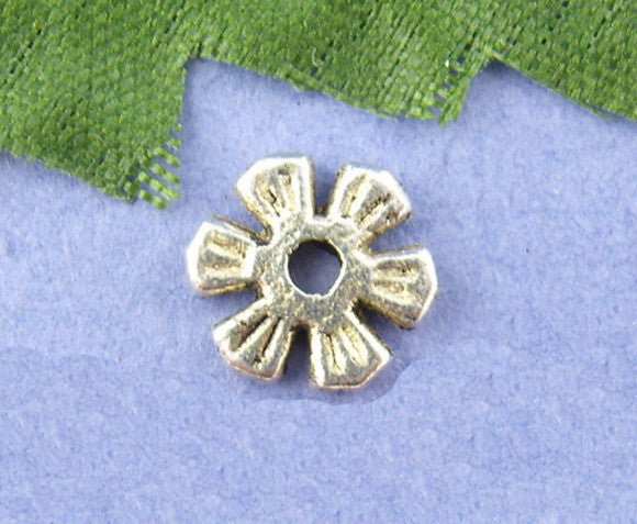 Silver Tone Flower Spacer Bead