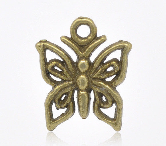 Antique Bronze Butterfly Charm