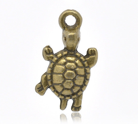 Antique Bronze Tortoise Charm