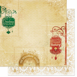 Silver and Gold 'Gift Shoppes' Paper