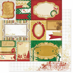 Silver and Gold 'Yuletide' Paper