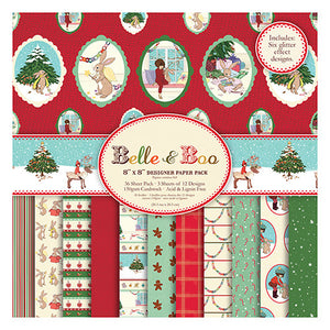 "Belle and Boo Christmas 8x8"" FSC Paper Pack"