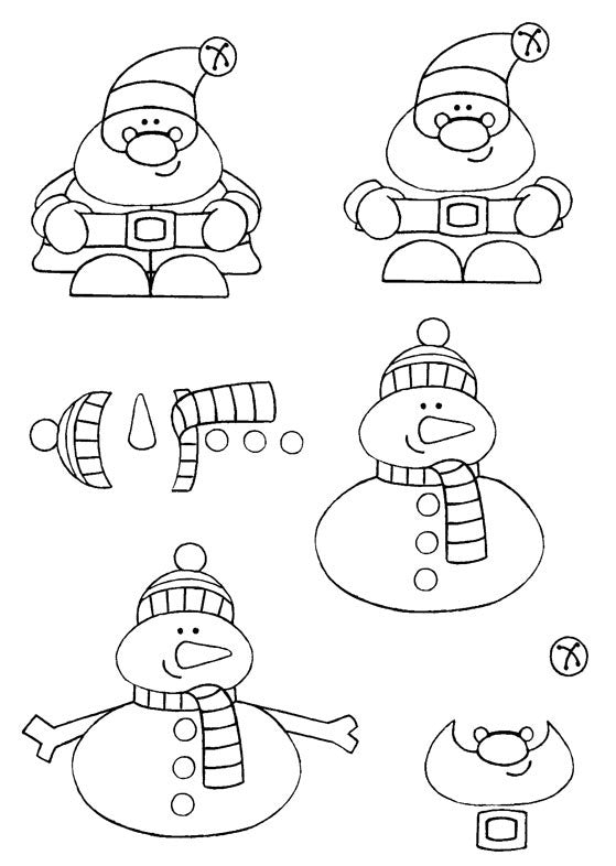 Beth Hughes Clear Stamps – Santa and Snowman