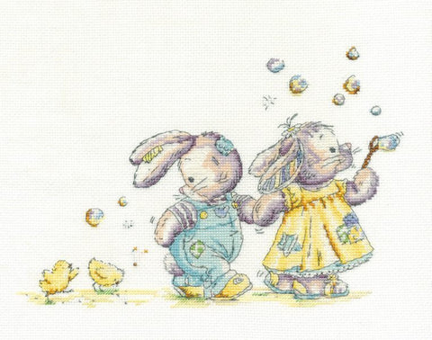 DMC - Blowing Bubbles Cross Stitch Kit - BL1091/51