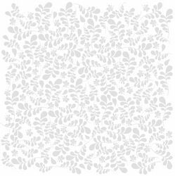 Bazzill Basics Paper - 12x12 Fancy Leaves Bazzill White