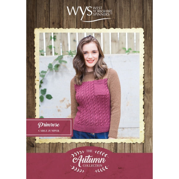 Primrose Ladies Cable Jumper - West Yorkshire Spinners Autumn Collection