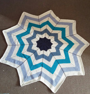 Baby's Starburst Blanket/Shawl - Exclusive to Crafts by Design