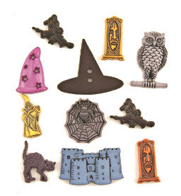 Novelty Buttons - Wizardry and Witchcraft