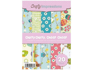 Chirpy, Chirpy, Cheep, Cheep A5 Paper Pad by Crafty Impressions