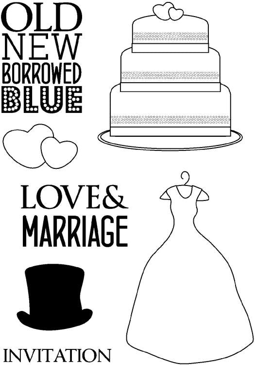Crafty Impressions Clear Stamps - Love and Marriage