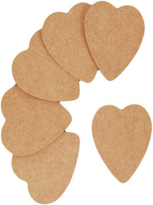 Wooden Shapes (6pk) - Hearts
