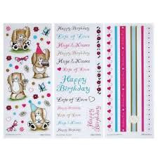 Coloured Stickers 3 pk – Candyfloss  & Marshmallow