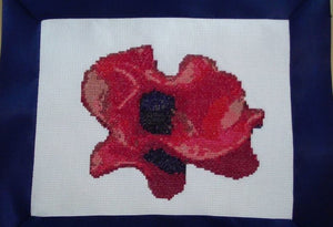 Ceramic Poppy Cross Stitch Kit - Crafts by Design