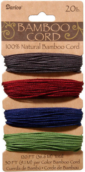 Darice Bamboo Cord Set - 4 colours