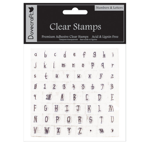 Dovecraft Clear Stamps - Numbers & Letters