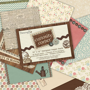 "Curiosity Corner by Dovecraft - 12 x 12"" Papers Pack"