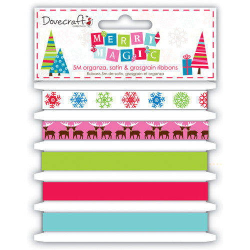 Dovecraft Merry Magic Ribbons