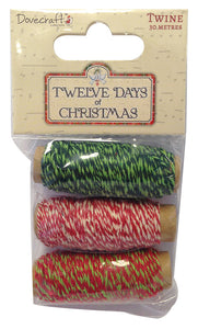 Dovecraft 12 Days of Christmas Twine Spool
