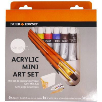 Daler Rowney Simply Acrylic Canvas Mini Art Set