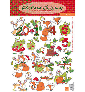Eline's Advent Sheets – Woodland Christmas No. 1