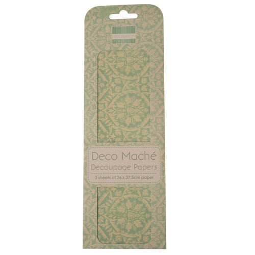 Deco Mache Decoupage Papers – Blue Damask