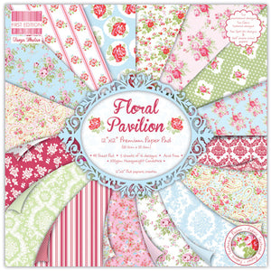 "First Edition Floral Pavilion – 12 x 12"" Papers"