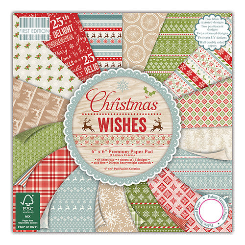 First Edition 12x12 FSC Paper Pad Christmas Wishes