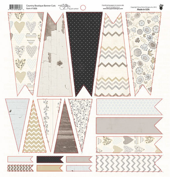 Country Boutique Banner Die Cuts by Fancy Pants Designs