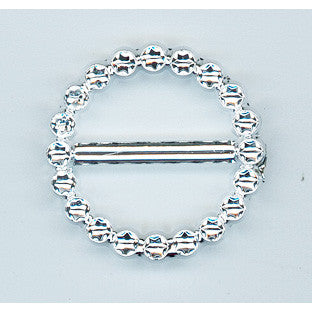 Faux Diamante Buckle 17mm Round