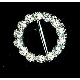 Diamante Buckle 18mm Small Round