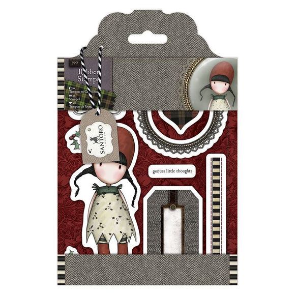 Rubber Stamps - Santoro Tweed - Holly