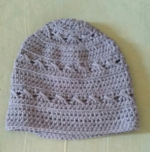 Crochet Slouchy Beanie Hat / Fingerless Mitts - Crossed Stitch - Exclusive to Crafts by Design