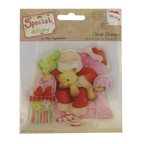 Special Delivery by Helz Cuppleditch Stamps - Snoozing Santa