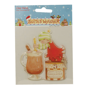 Helz Cuppleditch Santa's Workshop Clear Stamps - Hot Chocolate Elf