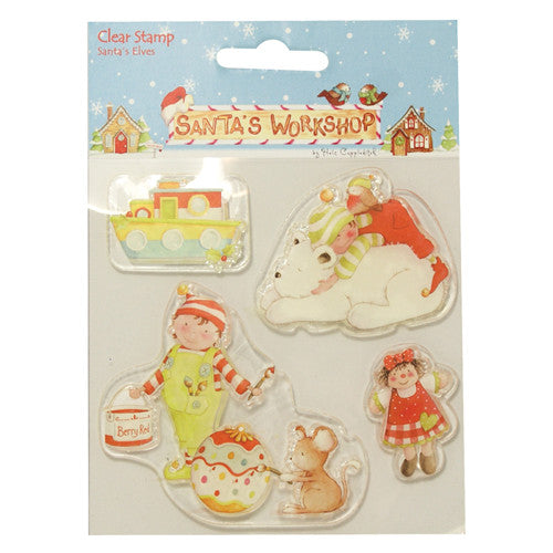 Helz Cuppleditch Santa's Workshop Clear Stamps - Santa's Elves
