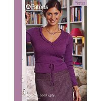 Patons Diploma Gold 4ply Womens Lace Trim Sweater Leaflet