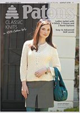 Ladies Cardigan Knitting Pattern - Patons 3770