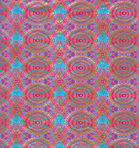 Decopatch Paper - Pink, Teal and Gold Ethnic Print