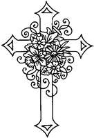 Crafty Impressions Clear Stamp - Easter Cross