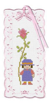 Kid With Rose Bookmark Kit