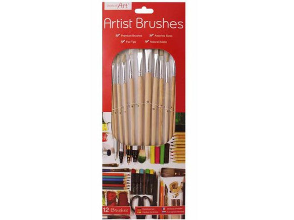 Artists Brushes (Pack of 12)