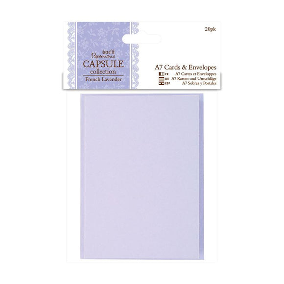 Papermania A7 Cards & Envelopes (20pk) - Capsule Collection - French Lavender