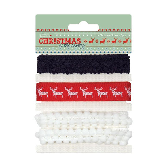 Papermania Christmas Trims (3pcs) - Christmas in the Country